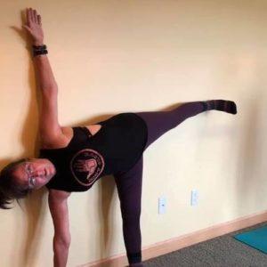 Yoga-student-halfmoon-pose